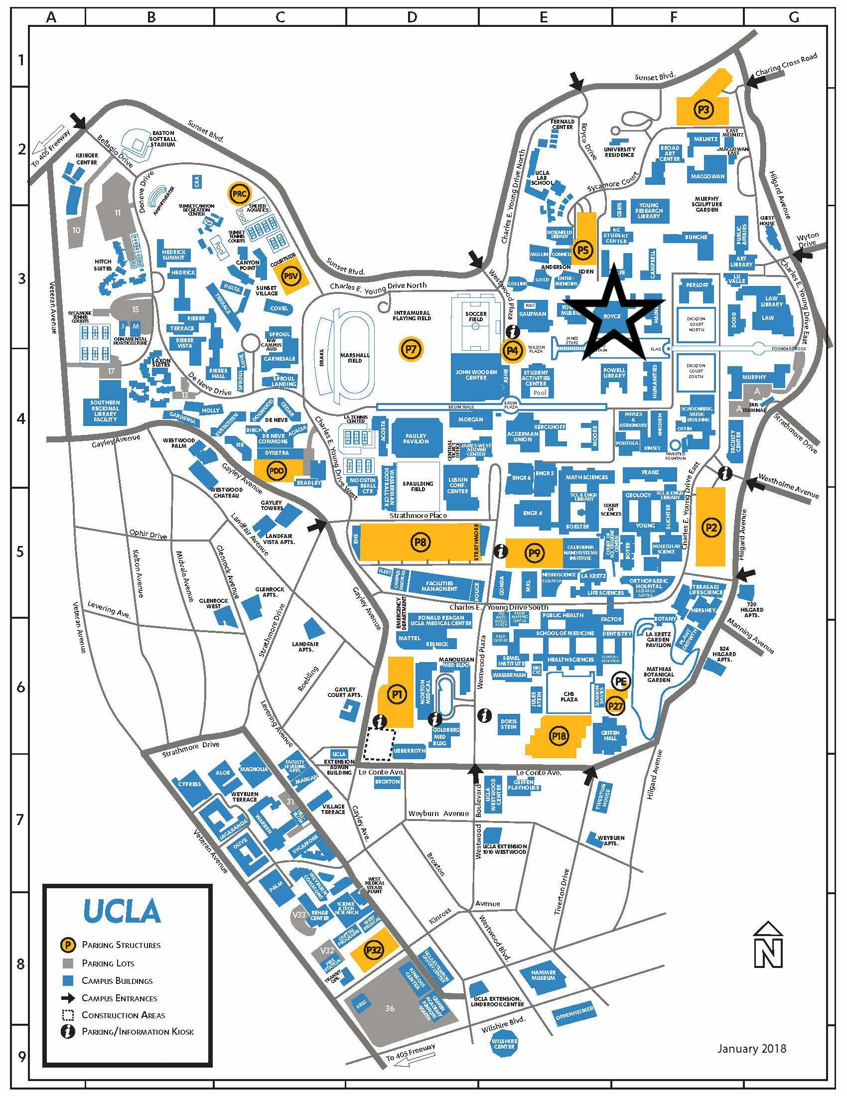 Ucla Campus Colored Map Page 1 Epic Program Ucla