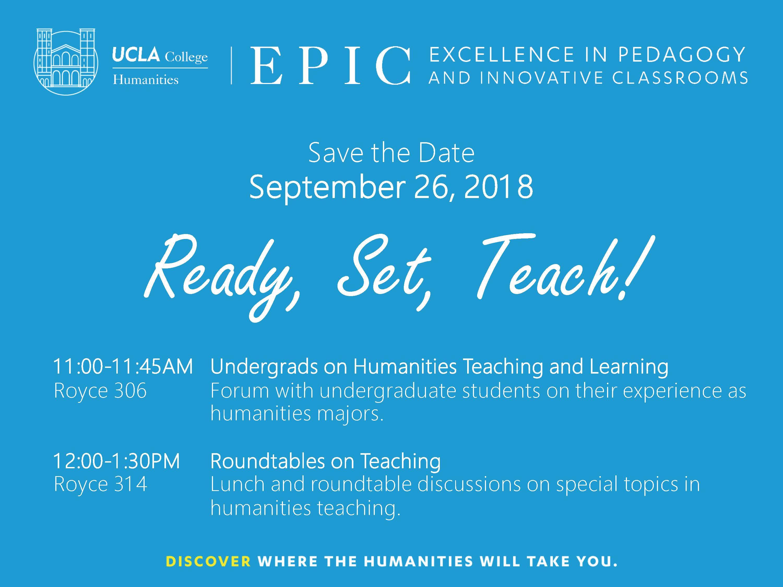 Ready Set Teach Epic Program Ucla