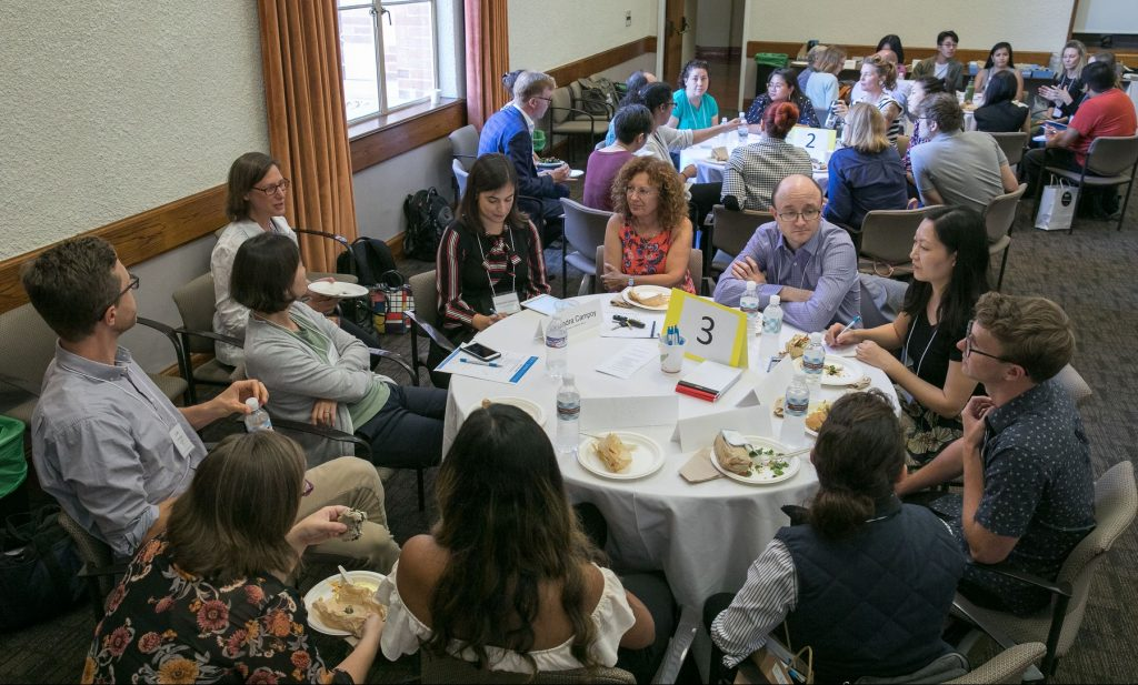 Roundtable discussion at Ready, Set, Teach in Fall 2018.